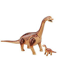 Playmobil Brachiosaurus With Baby Building Set 6595 New Learning Toys