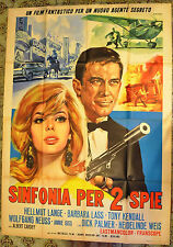 MANIFESTO ORIGINALE SINFONIA PER DUE SPIE 67 Serenade für zwei Spione SPY MOVIE