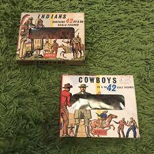 Airfix - Both Indians AND Cowboys HO/OO scale, S7 & S8, 42 piece Window Box Sets