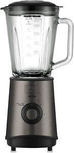 Black+Decker BXJB800E Blender Of Beaker, 800 W 1.5 L, Stainless Steel, Grey