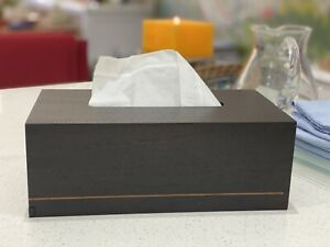 Hermes Wooden Tissue Box