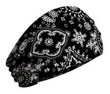 That's A Wrap Women's Bandana Flowered Paisley Knotty Band, Black KB1210