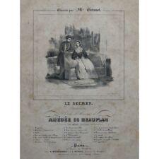 Evaliere Amédée the Secret Singer Piano ca1840 Sheet Music Sheet Music Score