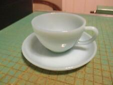 Vintage Fire King Turquoise Blue Cup and Saucer Set