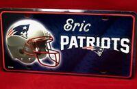 New England Patriots NFL License Plate Engraved Personalized Custom NE Patriots
