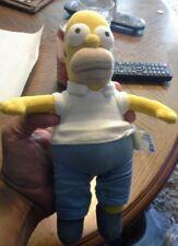 "Homer Simpson of the simpsons Applause 2006 stuffed animal 8"""