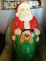 "VINTAGE 1996 CHRISTMAS EMPIRE 42"" SANTA BLOW MOLD W/LIGHT CORD"