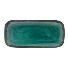 "Merritt International Melamine Turquoise Natural Elements - 15"" Serving Tray"