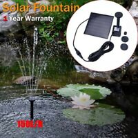 Solar Powered Fountain Water pump Landscape Floating Bird Bath Garden Pond Pool