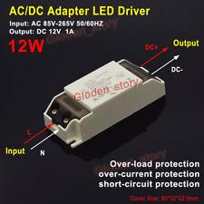 Adaptador controlador LED AC 110V 220V 230V a 12V 1A Módulo de Fuente de Alimentación Transformador