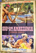 MANIFESTO ORIGINALE 800 LEGHE SULL'AMAZZONIA 60 La Jangada MEXICAN MOVIE