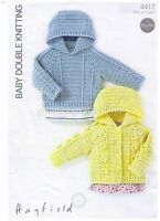 Laminated Crochet  PATTERN Baby / Childs hooded Jacket birth to 7 years