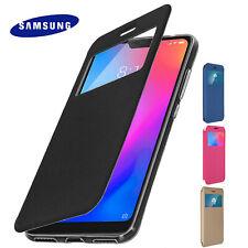 Funda ventana para Samsung Galaxy s9  y s9+ plus carcasa tapa con cierre imán