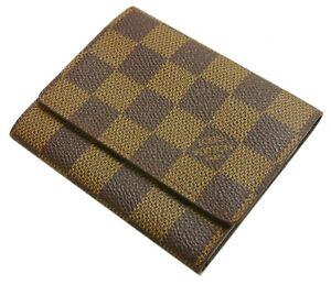 Authentic LOUIS VUITTON Amberop Cult de Visit Business Card Holder PVC #11460