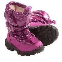 KAMIK Prancer Toddler Girls Puffer Waterproof Snow Boots  Select Size Blue/Berry