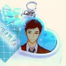 Sanrio Danshi Boys Seiichiro Minamoto Heart Ribbon Acrylic Key Chain Official
