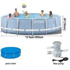 NEW PREMIUM Intex 10ft x 30in Frame Set w/Filter Pump + Pool Cover