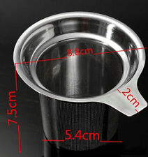 Stainless Steel Mesh Tea Infuser Strainer Loose Tea Leaf Spice Handles Filter