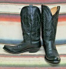 Womens Code West Black Leather Cowboy Boots 9.5 M Very Good Used Condition