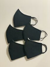Lot (x5) Fabric Face Mask - Homemade Reversable Reusable Washable (Triple Layer)