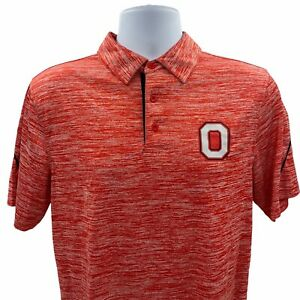 Ohio State Buckeyes Polo Size Small Red Short Sleeve