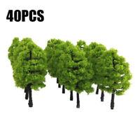 40x Green Tree Model Train Park Railway Architecture Scenery Layout Scale 1:100
