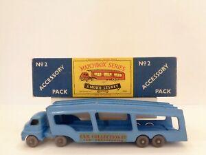 Lesney Matchbox A-PACK No.2 'BEDFORD CAR TRANSPORTER'---see photos & more K-size
