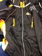 KAPPA JACKETS MANAGERS JACKET SMALL OR LARGESWADDED AT £34 INCH BLACK/ORANGE