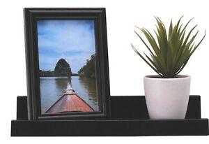 Black Floating Shelf With Matching Photo Frame Depth Display Shelves
