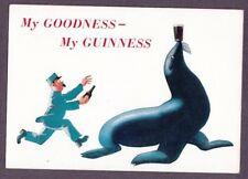 Postcard Guinness advertising Animal Posters sea lion My Goodness GA 891 6x4