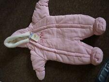 Ladybird 0 - 3 months Pink winter snow Suit BNWT