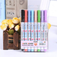 8 Colors Wipeable Glass Window Whiteboard Marker Pen Shop Car Decorating Tool