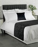 Lusso Strass Velluto Nero Copricuscino 45.7cm & Grande Bed Runner 70 X 220CM