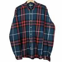 Burberry Brit Red / Teal Long Sleeved Casual Nova Check Shirt Size XL PTP 23.5""