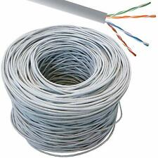 1000Ft 305m RJ45 CAT5e UTP AWG24 Solid Copper Ethernet LAN Cable UTP Patch Lead