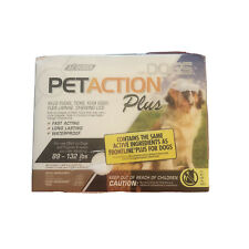PetAction Plus Flea & Tick Treatment Dogs 3 Boxes 9 Doses New