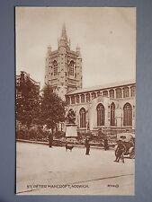 R&L Postcard: St Peter Mancroft, Norwich, Valentine, Vintage Car & Bicycle