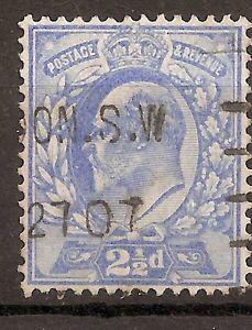UK-GREAT BRITAIN-1902/10- 2 1/2 P.-EDWARD VII- BLUE-Y&T nr.110(used stamp)