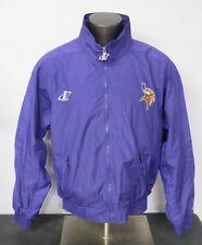 Men's Logo Athletic Vintage Jacket Purple Minnesota Vikings Spell Out Size XL