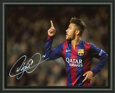 NEYMAR - BRAZIL - SOCCER - SIGNED - AUTOGRAPHED PHOTO POSTER FREE POST