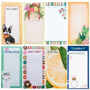 PaperCraft Magnetic List Pad, Hanging Refrigerator Notepad For Home or Office