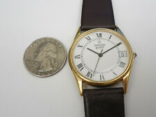 CONCORD GOLD PLATED 33MM RONDE MEN DATE WATCH