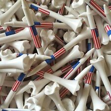 "100 3 1/4"" Pride Evolution USA American Flag Golf Tees White Wholesale"