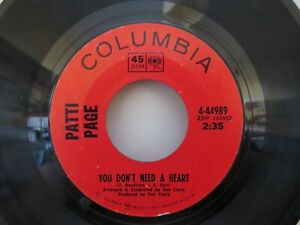 PATTI PAGE YOU DON'T NEED A HEART . BOY IN THE COUNTRY . ORIG NORTHERN SOUL