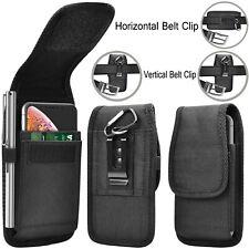 Men Card Wallet Case Horizontal Vertical Nylon Phone Holster Pouch Belt Loops