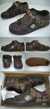 New Mens 6 Circa 207 Se Brown Plaid Leather SkateBoard Shoes $70