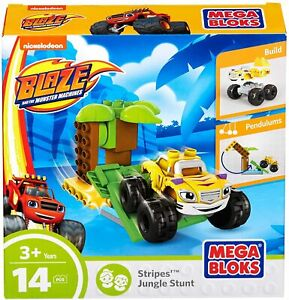 Blaze and the Monster Machines Mega Bloks Stripes' Jungle Stunt Toy Playset NEW