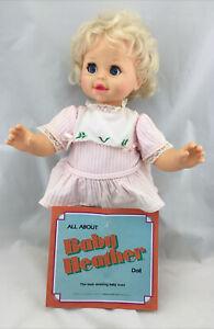 RARE Vintage 1987 Mattel Baby Heather Interactive Talking Doll Partially Works