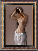 Hand-painted Original Oil Painting art Impressionism nude girl on canvas 24x36""