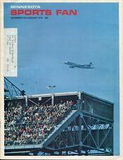 Minnesota Sports Fan Magazine Dec 1973 / Jan 1974 Bob Lurtsema Vikings Skiing